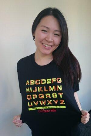 モールス符号Tシャツの販売中です!