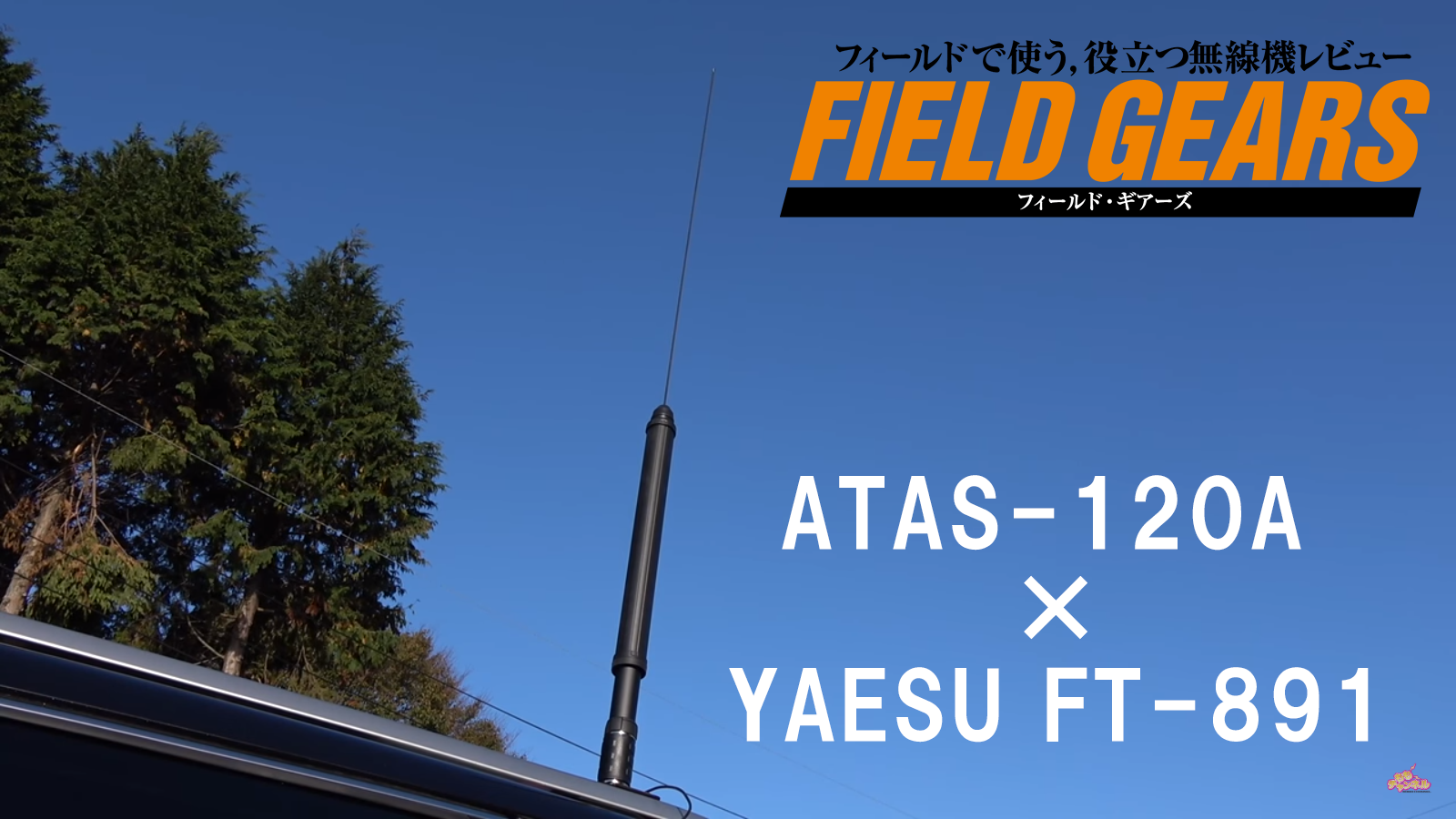 ATAS-120A&FT-891Mで簡易ロングワイヤアンテナ運用